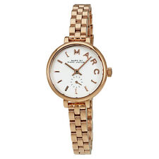 Marc by Marc Jacobs Sally White Dial Ladies Rose Gold Tone Watch MBM8643