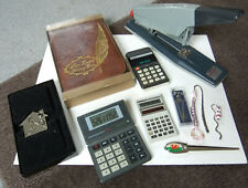 VINTAGE AND NEW STATIONERY ITEMS - REXEL GIANT STAPLER, LEATHER WRITING CASE,ETC