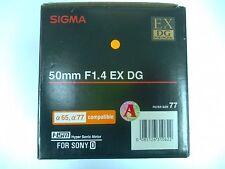 Sigma AF 50mm f/1.4 EX DG HSM Lens for Sony A-Mount