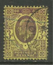 GB 1901 - 11 KEV11 3d Yellow/Purple jubilee. ( T422 )
