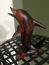 Hand Carved Exotic Wood Dolphin