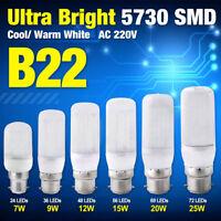 B22 7/9/12/15/20/25W AC 220V Energy Saving White 5730 LED Corn Bulbs Lamp Lights