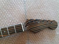 Zebra wood Electric  Guitar Neck Replacement  22 Fret for ST style