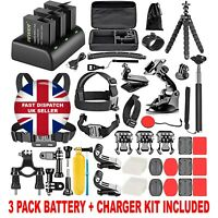 Neewer 50in1 Accessory Kit GoPro Hero 8 7 6 5 4 with BATTERIES CHARGER SET UK