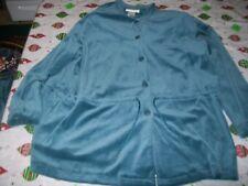 NWT Susan Graver Green Velour 2 Piece Skirt Outfit Size Women's 1X