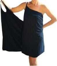 Womens Maternity Wrap Around Dress Comfortable Ladies Pregnancy Dress Black NEW