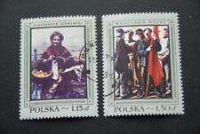 Polen, 1968, Gemälde (2 Marken postfrisch mit Stempel)