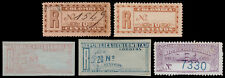 Colombia Scott F11-F12, F13, F17, F20 (1892-1904) Mint/Used H VF, CV $7.40