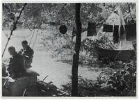 Ein deutscher Feldflughafen in Frankreich. Orig-Pressephoto, von 1940
