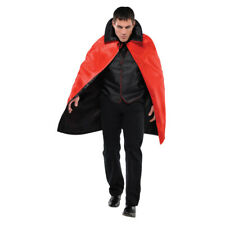 Adults Black and Red Reversible Cape