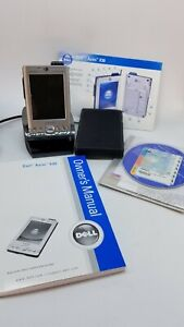 Vintage DELL Pocket PC DELL AXIM X30 Pocket PC With Charger, Manuals, Holder, CD