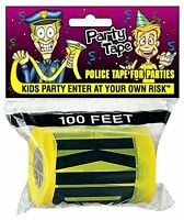 KIDS PARTY ENTER AT YOUR RISK TAPE Barricade Yellow Police Crime Scene Joke 100'