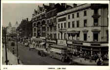 Great Britain Postcard 1955 LIVERPOOL Lord Street Traffic Verkehr Bus Auto Cars