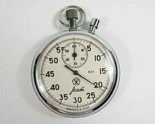 AGAT Russian USSR mechanical STOP WATCH 16 JEWELS (a30)