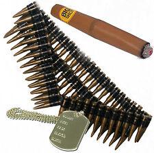 Cintura di proiettile, Dog Tag & Cigar 80s UNA SQUADRA TERMINATOR DELL'ESERCITO Messicano Costume