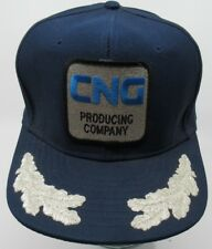 VINTAGE 1980s CNG PRODUCING COMPANY TRUCKER HAT CAP PATCH ADVERTISING AF9