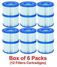 Bestway 12 Filter Cartridges VI 58323, Lay-Z-Spa Miami Monaco Vegas Palm Springs
