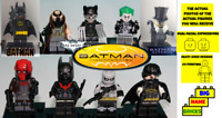 Brand New Set of 9 Custom  Figures Batman from Burton films Dark Knight