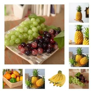 Lifelike Colorful Artificial Plastic Fake Fruit Cabinet Display Home Party Decor