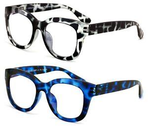 2 Pairs Glasses Blue Light Blocking, UV Ray Glare Computer Readers Reading Bold