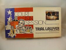 Trial Lawer Board Game Vintage Court is in Session  Board Game 1977 NOT COMPLETE