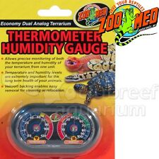 Zoo Med Economy Analog Dual Thermometer & Humidity Gauge Reptile Terrarium