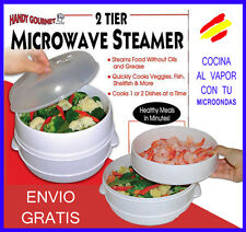 MICROWAVE STEAMER Cocina al VAPOR con tu Microondas 2 NIVELES