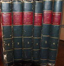 Oeuvres de J.F. Ducis - 1818 - en 6 tomes - Hamlet, Mc Beth , Roméo et Juliette.