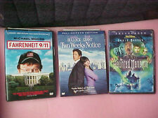 DVD DVD's Lot Haunted Mansion Fahrenheit 9/11 Twoo Weeks notice movies
