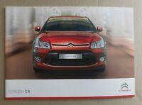 Citroen C4 Brochure 2009 / 2010 - Exclusive, VTR+ VTR