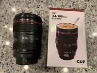 Photographer Gift Camera Lens EF 24-105mm Travel Mug Coffee Cup