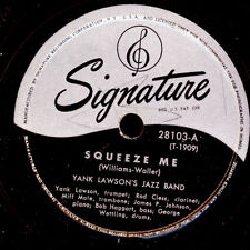 Yank Lawson's Jazz Band Squeeze Me/the sheik of Araby GOMME LAQUE PLAQUE x2720