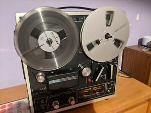 VINTAGE AKAI 1721L REEL TO REEL STEREO TAPE RECORDER PLAYER WORKING INC TAPES