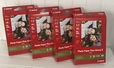 Canon Photo Paper Plus Glossy II 4 x 6 Inches 100 Sheets PP-201 4 Boxes
