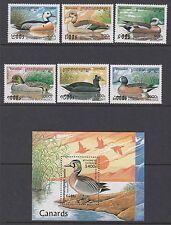 BIRDS : CAMBODIA 1997 Ducks  set + Min Sheet SG 1644-9 + MS1650 MNH