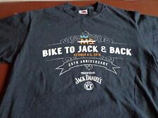Bike Jack Daniels No 7 Brand Whiskey & Back 2014 Motorcycle Rally T-Shirt M E8