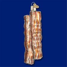 BACON STRIPS BREAKFAST MEAT PORK OLD WORLD CHRISTMAS GLASS ORNAMENT NWT 32208
