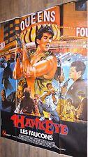 LES FAUCONS hawkeye ! affiche cinema karate 70 vintage