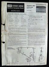 Historische Radio-Anltg~ITT Teddy 100 automatic~ Kofferradio 1970 origin Manual