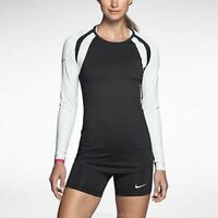 Nike Women's Court Warrior Long Sleeve Dri-Fit Volleyball Jersey Black/White