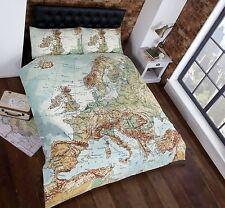 VINTAGE CARTE EUROPE HOUSSE DE COUETTE DOUBLE NOUVELLE EUROPÉEN