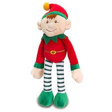 Noël grosses elf on the shelf 12cm jouet doux velcro suspension 25cm de long rouge