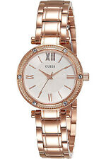 GUESS W0767L3,Ladies Dress,Stainless Steel,Rose Gold-Tone,Crystal Accented Bezel