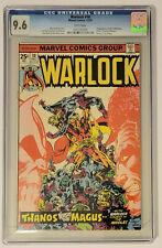 Marvel Comics Warlock #10  CGC 9.6 1st App In-Betweener, Origin of Thanos/Gamora