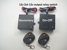 MSD INC 12v 2ch RF 315M wireless switch with 1 CH on/off and 1 CH momentary RS12