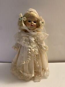 Vintage 1954 Vogue Ginny Bride Doll with Original Tagged Wedding Dress Blonde