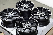 15x6.5 Black Wheels Rims 4x100 Single Drill Fit Kia Rio Sephia Mx-5 Miata Sentra
