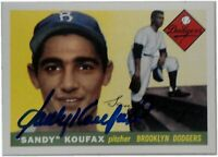 Sandy Koufax Hand Signed Autographed 2016 Topps Heritage 1/1 Rookie Reprint