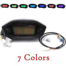 N-5 Motorcycle Digital Gauge Tacho Speedo Odometer Gear Fuel Indicator 12V LCD