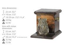 Kerry Blue Terrier, dog urn made of cold cast bronze, ArtDog, Ca - kind2